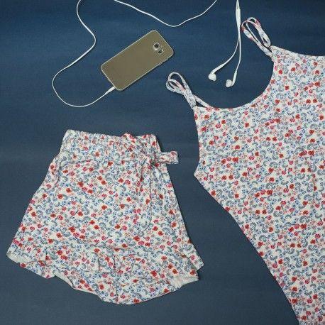 Pijama Pants - Blue & Red Print