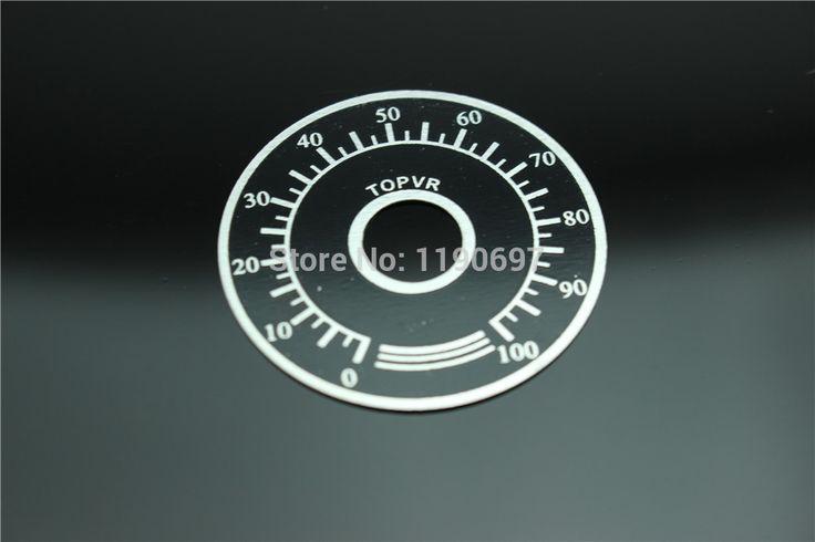 Kualitas tinggi aluminium potensiometer digital dial skala Dan tombol 2 Set Gratis Pengiriman