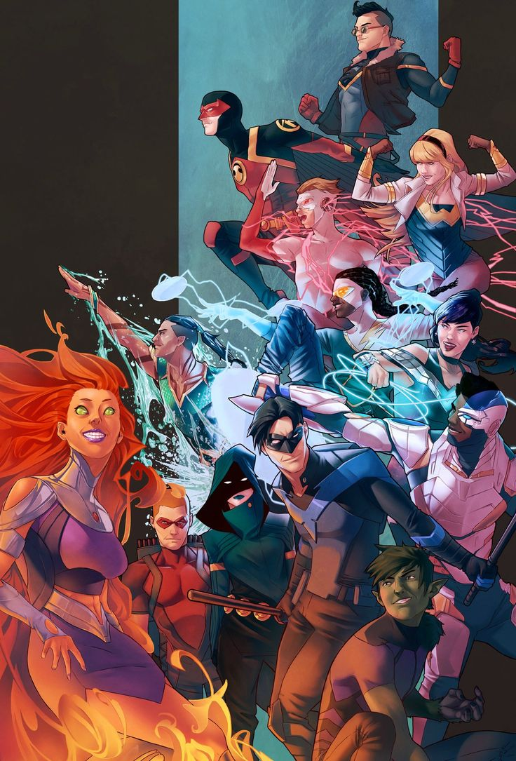 """youngjusticer: """"Youngsters fighting for justice. Teen Titans, by Jamal Campbell. """""""