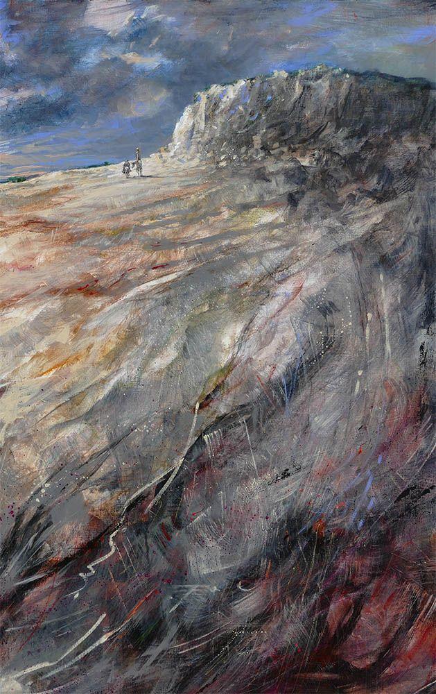 """Marcel Nino Pajot  """"Le Crépuscule des Errants"""" (détail) -Technique mixte sur toile  114 x 146 cm"""