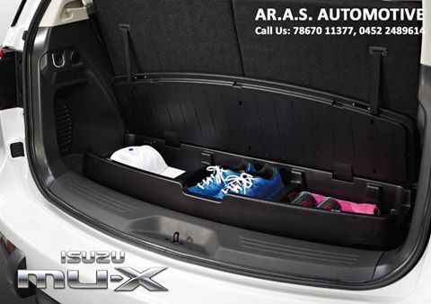 ISUZU Mu-X Accessory - TRUNK ORGANISER A perfect accessory for your trips with multiple compartments to store those essentials... For details contact: 78670 11377, 0452 2489614 #isuzu #mux #arasautomotive #madurai