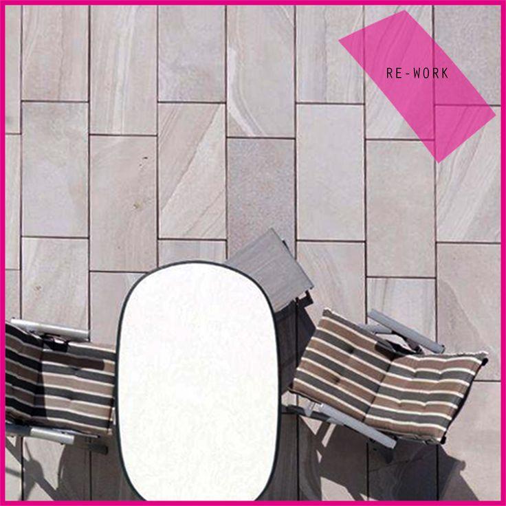 collezione RE-WORK da #esterni!! // RE-WORK collection for #outdoor! #terrazzo #terrace #abk #ceramica #cool #gres #ceramics #tile #tiles #floor #pavimento #esterno #decor #design
