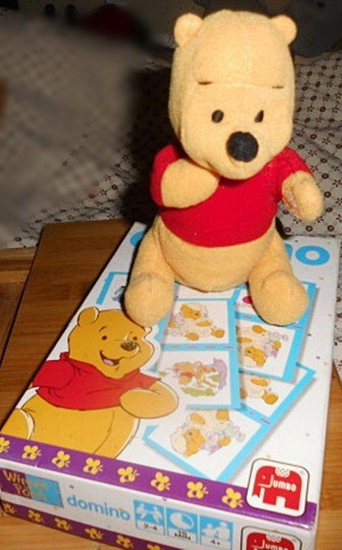 Domino #Spiel Winnie Pooh und Winnie Pooh aus Stoff/#Plüsch