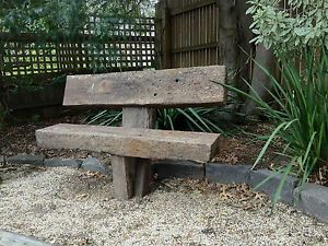 Anchored-solid-recycled-railway-sleeper-garden-seat