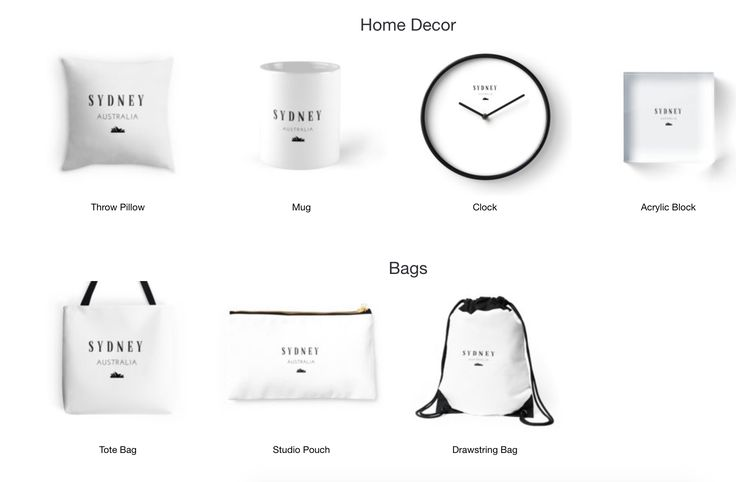 Sydney!- Home Decor, Bags, T-shirts and more. Available on Redbubble now.