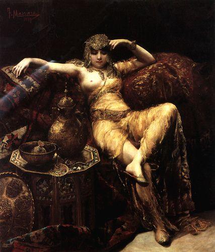 """A Harem Beauty"" by Francisco Masriera Y Manovens Spanish painter (1842-1902)"