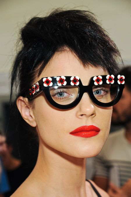 prada s/s 2013Fashion, Style, Prada Spring, Jessica Stam, Spring Summer, Red Lips, Flower Power, Sunglasses, Eye