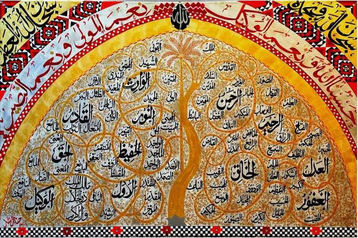 The Magnificent Tree of life embedded in Asma ul Husna (99