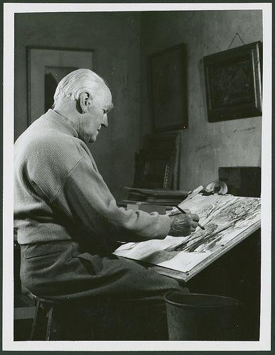 Artist Sir Hans Heysen, 1961