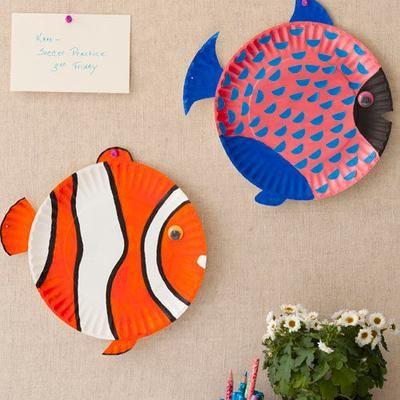 Fish Plate #Craft for the kiddos. #Schwans #Summer #kids #Summer