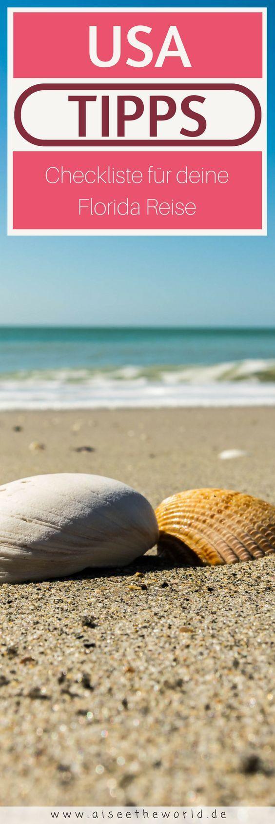 Checkliste für deine Florida Reise. Du Vorbereitungen für deinen Urlaub in Florida laufen auf Hochtouren? Was darfst du nicht vergessen. Ist dein ESTA genehmigt? Was darf in den Koffer? Hotels. Mietwagen. Flüge.