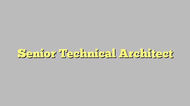 Senior Technical Architect