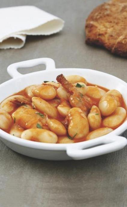 Judiones de La Granja con codorniz  receta