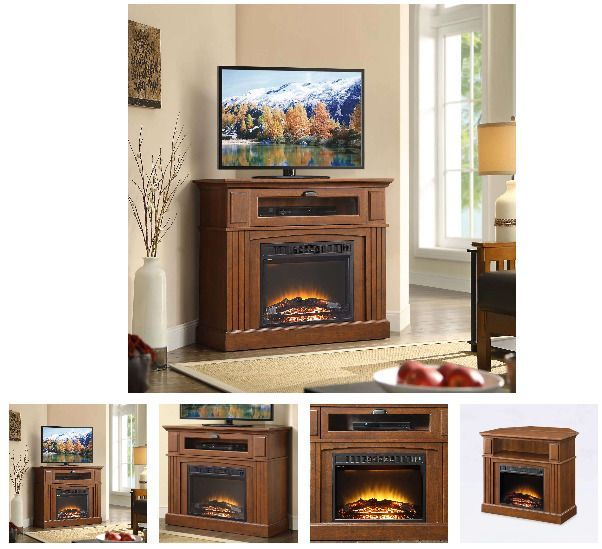 42 Inch Tv Stand With Fireplace Media Console Electric Entertainment