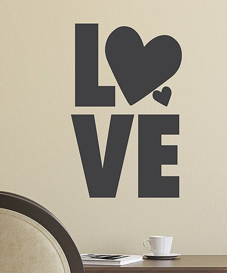 You could list the reasons you love on your wall. So sweet. :: 'Love' Chalkboard Wall Decal