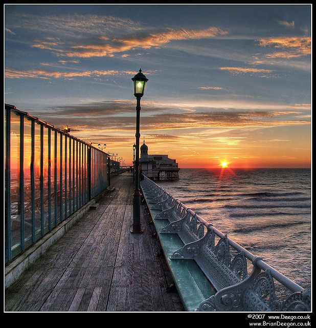Blackpool pier in Lancashire, England, GB