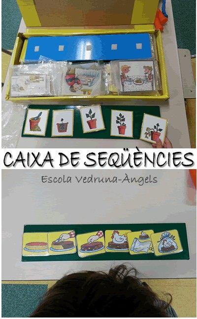 Caixa de seqüències. Ordenar una seqüència. Treball de raonament, lògica,llenguatge oral...