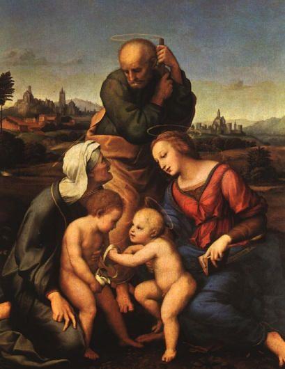 Święta rodzina Canigiani, Rafael
