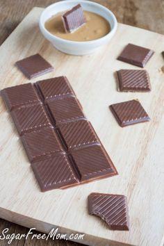 FINALLY Homemade sugar free chocolate bars using baking chocolate or Cacao and Stevia