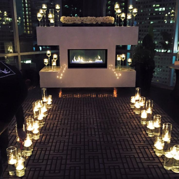 Candlelit Ceremony At ROOF On TheWit #WeddingsattheWit #Chicagoweddings  #rooftop