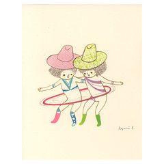 Little Otsu — Hula Hoop Card by Ayumi Piland
