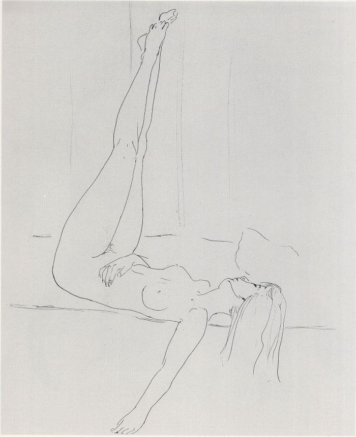 Reclined Nude Artist: Richard Feynman