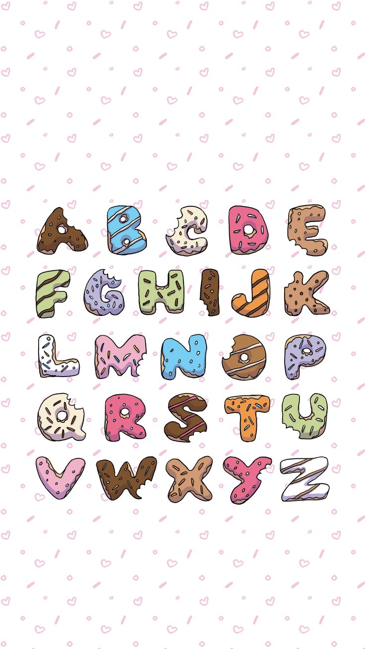 Donut ABC's - Free Wallpaper — Life With Chnar'John