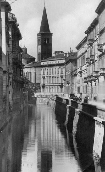 San Marco vista da via Fatebenefratelli. Milano
