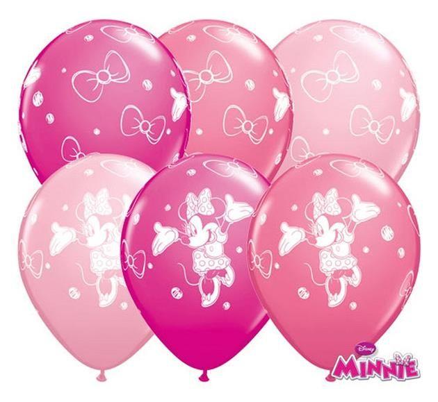 """Balon lateksowy 11"""" (29 cm) z nadrukiem Myszka Minnie. Doskonała dekoracja na przyjęcie urodzinowe Twojego dziecka.Produkt licencjonowany przez firmę Disney."""