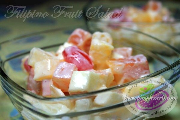 Fruit Salad Recipe   A classic salad recipe so delicious, juicy and fruity dressed with sweetened condensed milk and nestle cream. This salad is always serve chilled and it has so many versions yet so easy and simple to prepare.