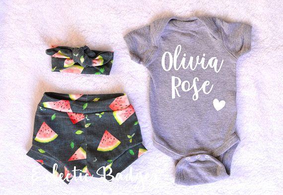 Summer outfit baby girl Newborn girl summer clothes Coming home outfit summer Summer baby clothing Organic baby clothes Newborn girl summer