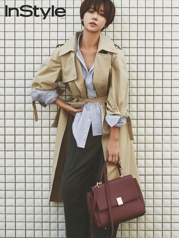 Hwang Jung Eum turns into a chic autumn lady for 'InStyle'   allkpop.com
