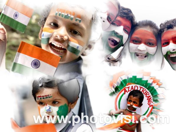 Independence day face paint India