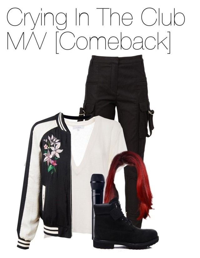 """Sem título #1050"" by army-forever ❤ liked on Polyvore featuring Balmain, IRO, LE3NO and Timberland"