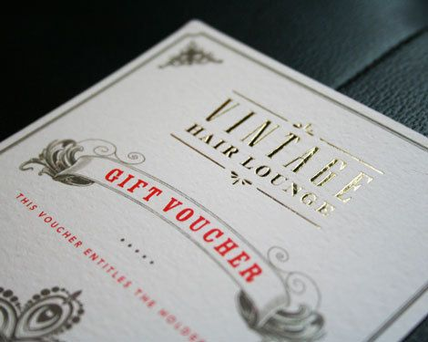 VHL gift voucher by Cassie Leedham, via Behance