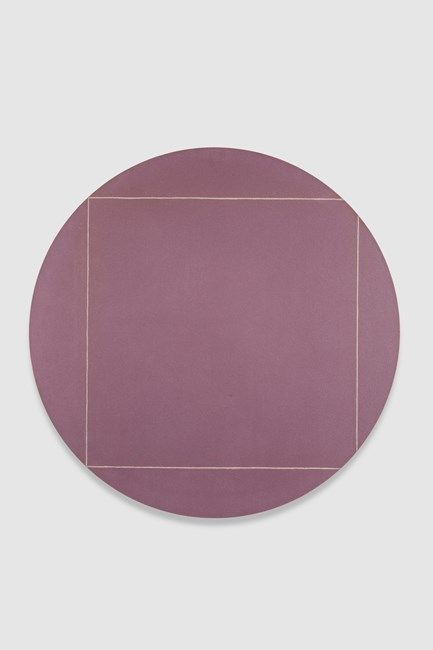 Robert Mangold - Circle Painting No 4, 1973, Acrylic and white pencil on canvas, 48 inches diameter