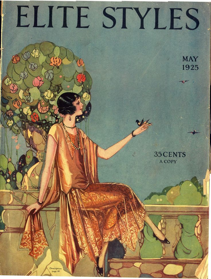 Elite Styles Fashion Magazine May 1925 Vintage Pictures