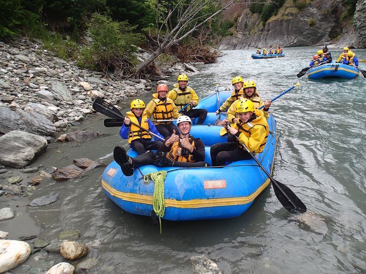 Rafting in Skippers Canyon near Queenstown.