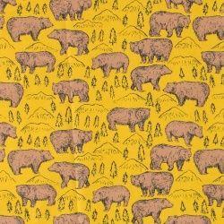 Bomuld karry m brune bjørne