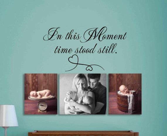 In this Moment time stood still. wall decal - wall art - wall decor - decal…