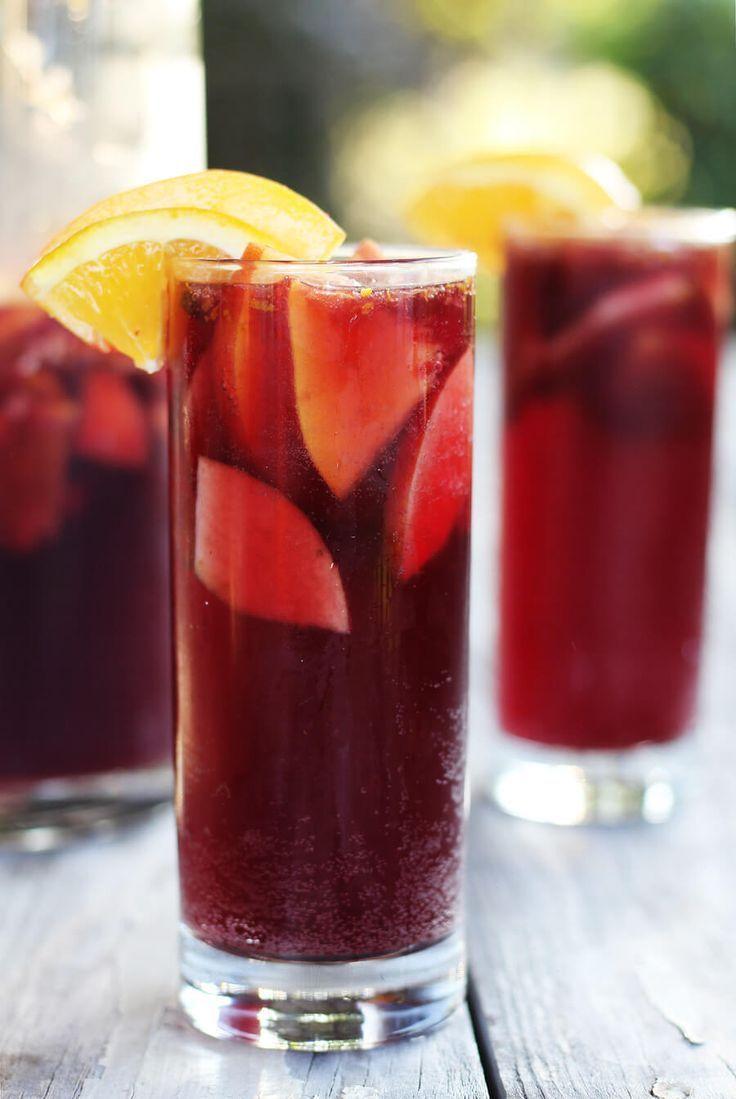 Sparkling Red Wine Sangria Wine Desserts Red Wine Sangria Red Sangria Recipes