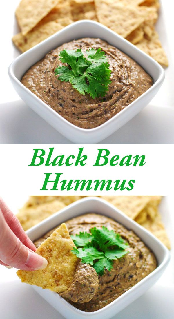 This Black Bean Hummus only takes 5 minutes to make and is a crowd favorite…
