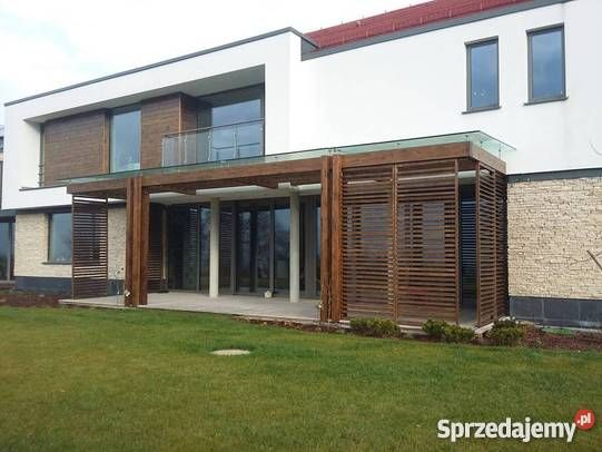 Taras drewniany pergola wiata na samochód Poznań sprzedam