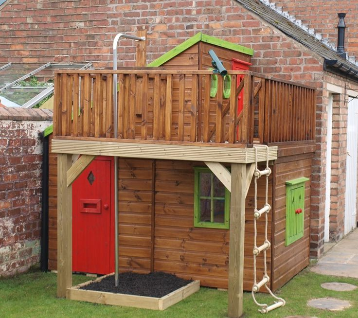 childrens wooden playhouse - Garden Sheds For Kids
