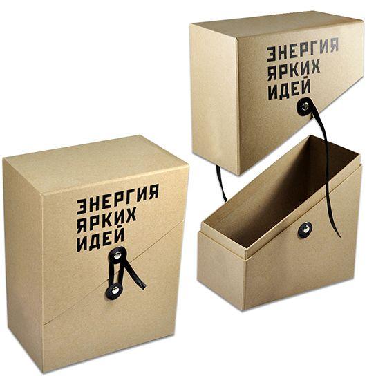 Коробка крышка-дно с косым бортом под книги