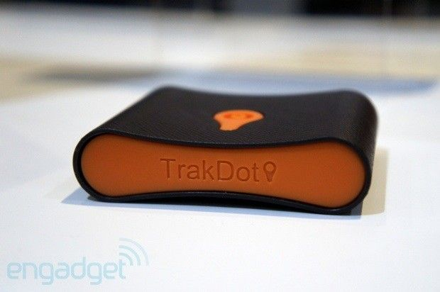 Trackdot. Put it in your luggage, it serves as a locator!