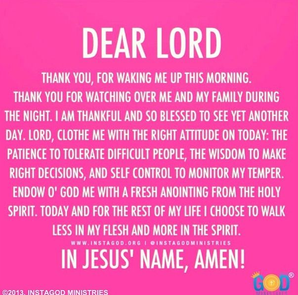 Great morning prayer :)