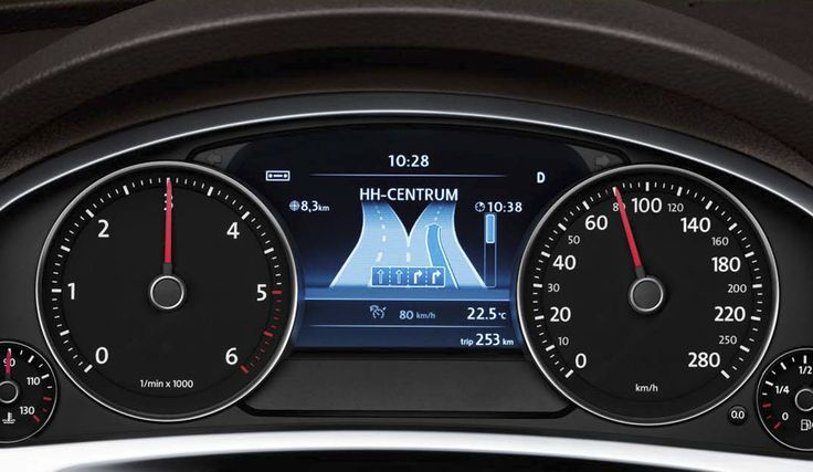 If well lit and cool looking instrument panels turn your head, then check out the #VW Touareg display.