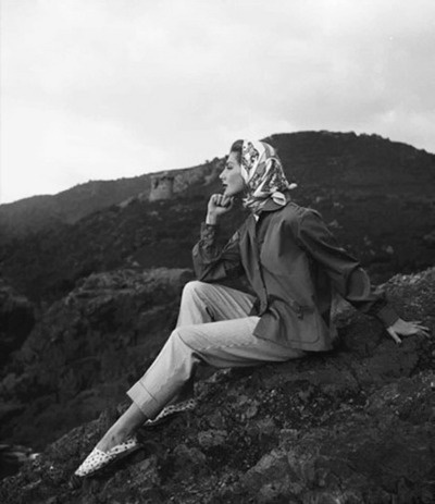 Fiona Campbell Walter, Corsica 1954    Photo by George Dambier