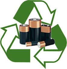 Recycle your batteries! Check with your employer to see if they have a battery recycle program. If not, check with your town. Many places have collections at least twice a year.
